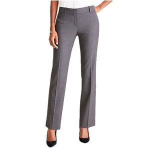 Ann Taylor Margo Pants Wool Straight Leg In Gray